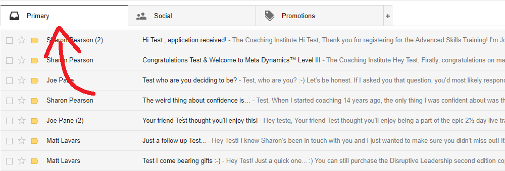 The Coaching Institute Email Whitelisting - Gmail