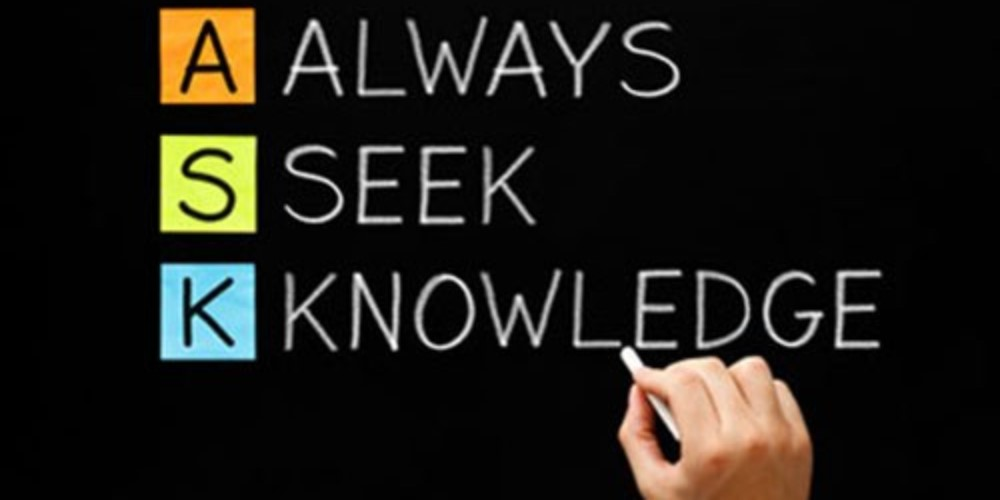 Quote saying - Always Seek Knowledge