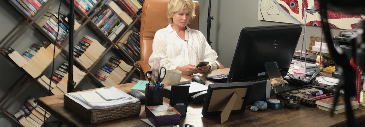 Sharon Pearson working from home
