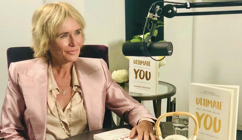 Sharon Pearson at desk