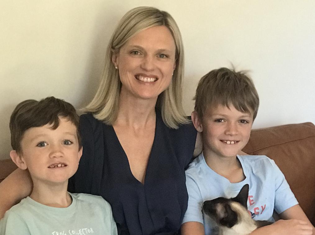 Karen Eley with sons