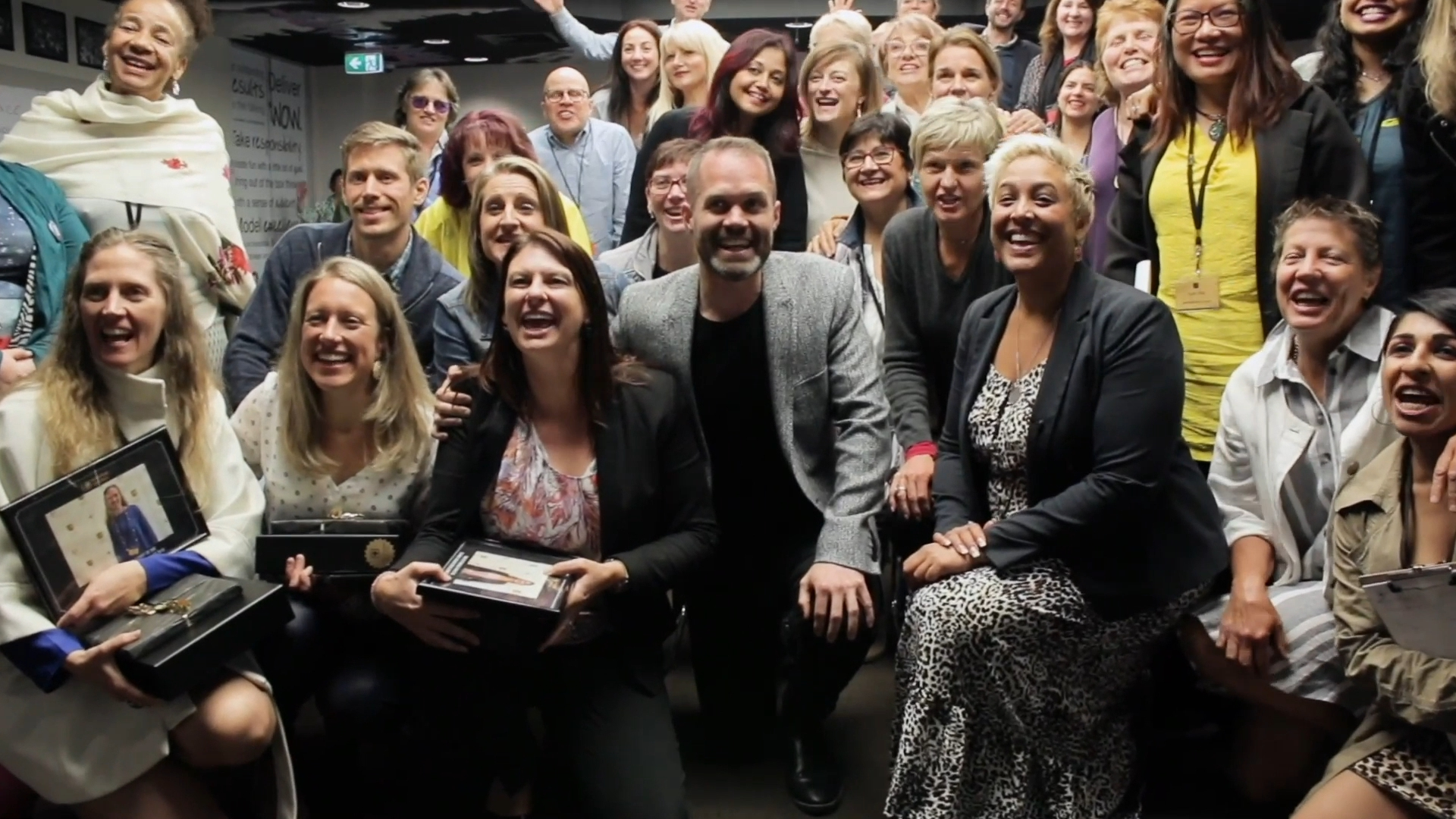 Matt, Ilse and students at the Coaching Success launch